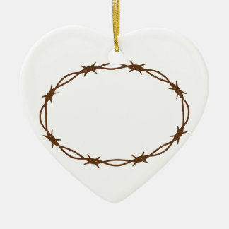 Crown Of Thorns Ceramic Heart Decoration