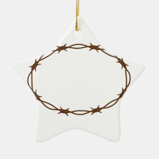 Crown Of Thorns Ceramic Star Decoration