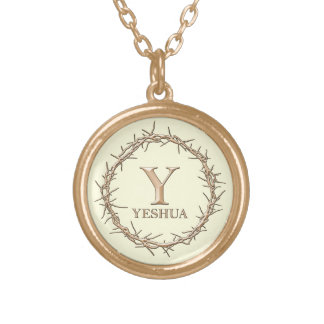 CROWN OF THORNS Christian Gold Plated Necklace