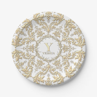 CROWN OF THORNS Christian Paper Plate