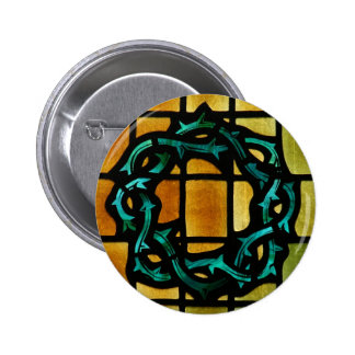 Crown of Thorns Stained Glass Window Art 6 Cm Round Badge