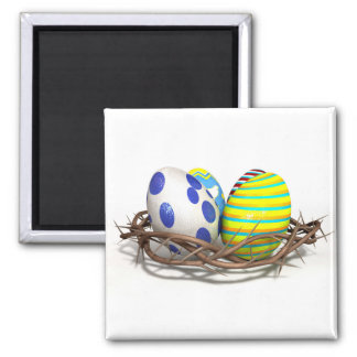 Crown Of Thorns With Easter Eggs Magnet