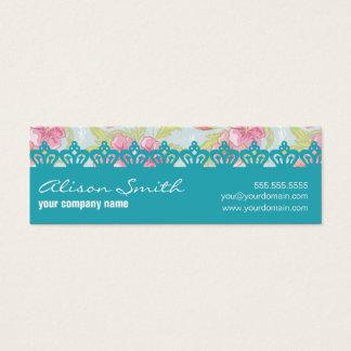 Crown pattern mini business card