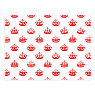 Crown Pattern Postcard