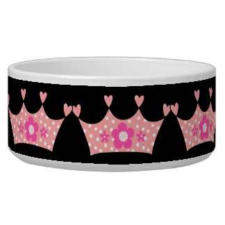 Crown Pink Create Your Pet Dog Bowls