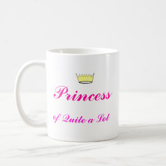Crown, Princess, of Quite a Lot Basic White Mug