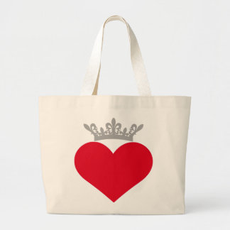 Crown Red Heart Bag