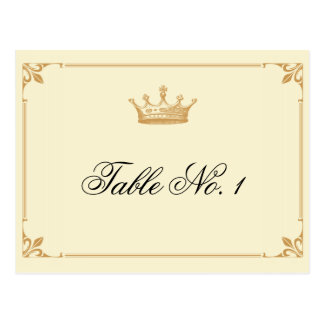 Crown Regency in Gold and Ivory Table Number Postcard