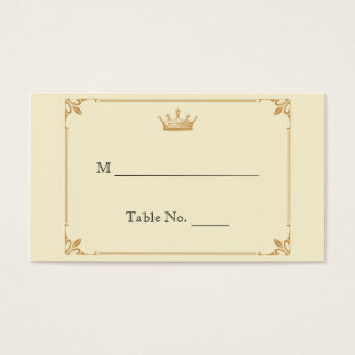 Crown Regency in Gold Ivory Wedding Place Cards