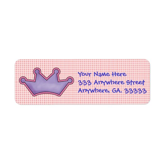 Crown return address labels