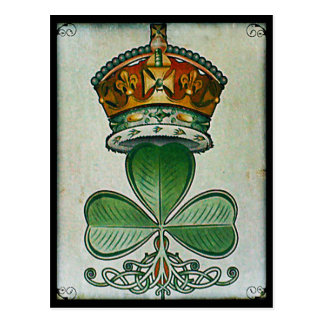 Crown & Shamrock postcard. Postcard