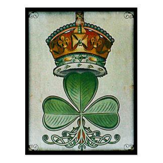 Crown & Shamrock postcard. Postcard