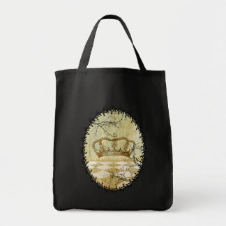 Crown with Branches Grocery Tote Bag