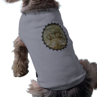 Crown with Branches Sleeveless Dog Shirt