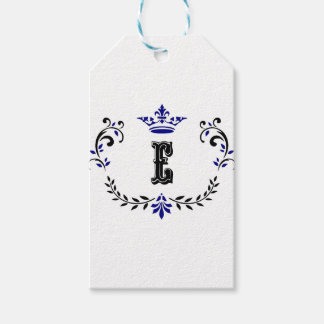 Crown Wreath Monogram 'E' Gift Tags