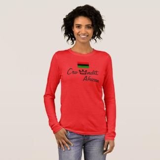 Crowndit African women t shirt long sleeve