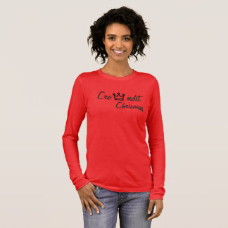 Crowndit chrismas red long sleeve long sleeve T-Shirt