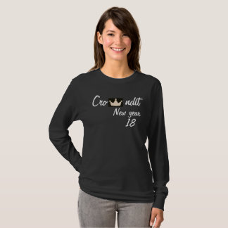 Crowndit new year 2018 women long sleeve T-Shirt