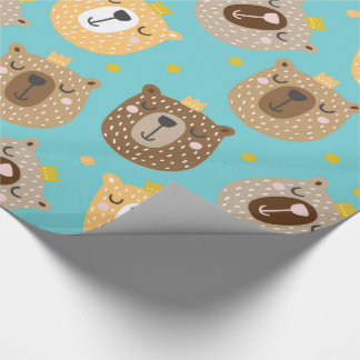 Crowned Bears Wrapping Paper