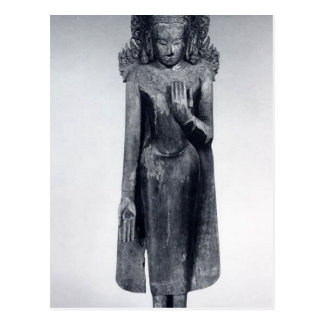 Crowned Buddha - Pagan period Postcard