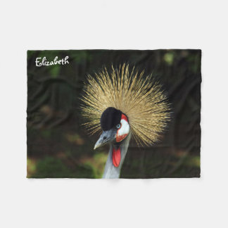 Crowned Crane Bird Blanket