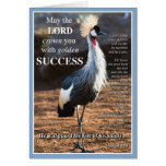 Crowned Crane Success Greeting Card
