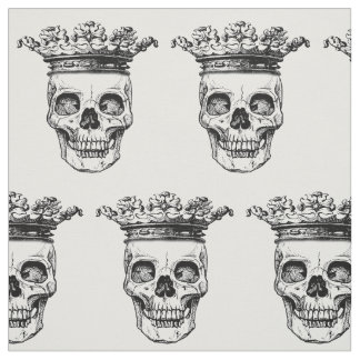 Crowned Heads print fabric