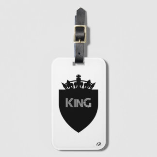 Crowned King Luggage Tag with Business Card Slot