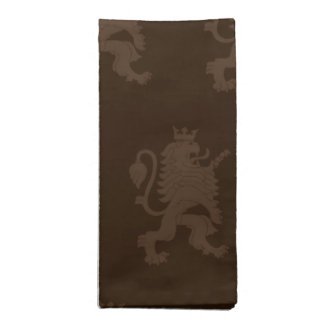 Crowned Lion Browns Napkin