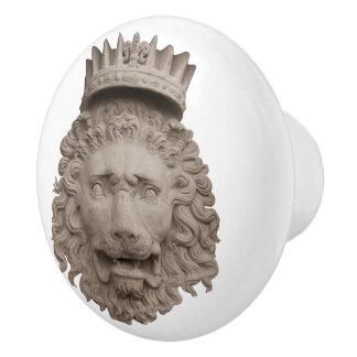Crowned Lion Ceramic Knob