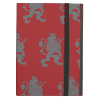 Crowned Lion Grey Red iPad Air Cover