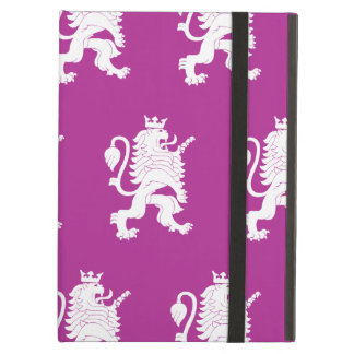Crowned Lion Magenta white Cover For iPad Air