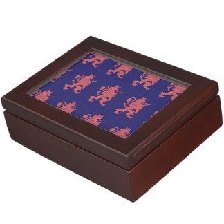 Crowned Lion Pink Purple Keepsake Boxes