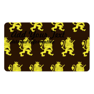 Crowned Lion Yellow Browns Pack Of Standard Business Cards