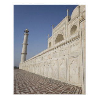 Crowned minarets at Taj Mahal, view from Chhatri Poster