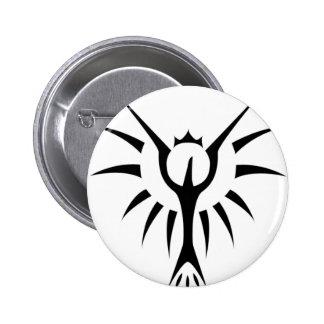 Crowned Phoenix 6 Cm Round Badge