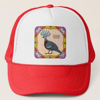 Crowned Pigeon Floral Trucker Hat
