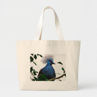 Crowned Pigeon Large Tote Bag