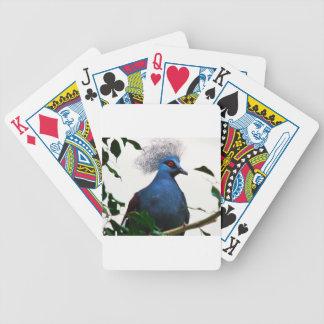 Crowned Pigeon Poker Deck