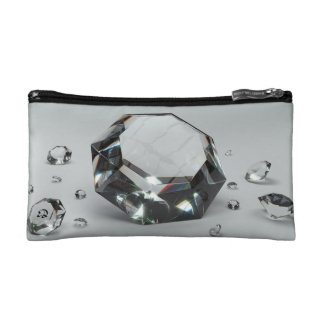 Crowned Queen Collection Diamond Cosmetic Bag