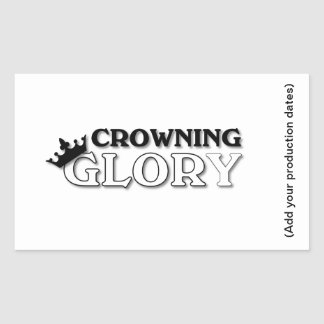 Crowning Glory Rectangular Sticker