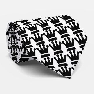 Crowns Black & White Tie
