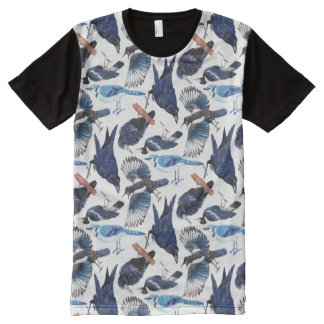 Crows and Corvids All-Over Print T-Shirt
