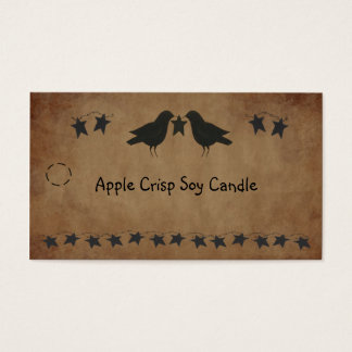 Crows and Stars Hang Tag Business Card