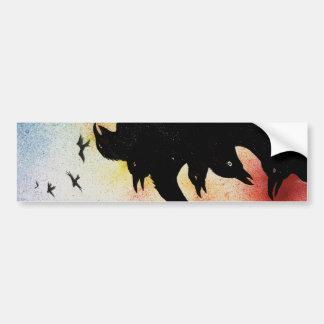 crows bumper sticker