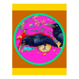 Crows in Spring Design by Sharles Postcard