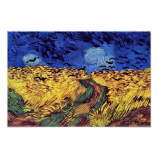 Crows Over Wheatfield By Vincent Van Gogh Print