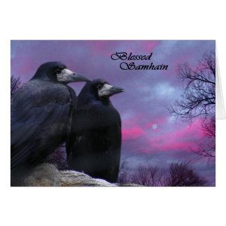 Crows Pagan Samhain card