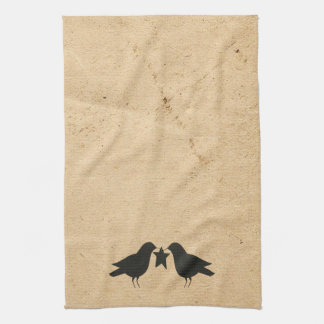 Crows With Star Kitchen Towel