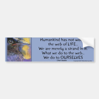 CROWSPIRIT Chief Seattle- Bumper Bumper Sticker